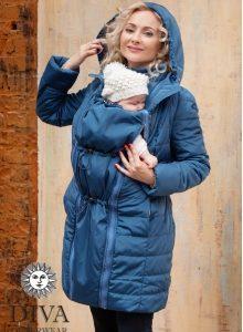 Azzurro téli babahordozó kabát 4 in 1 funkcióval-Diva Milano