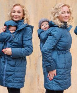 A négy funkció egy kabátban: kismama,elöl hordozáshoz,háton hordozáshoz,gyerekek után