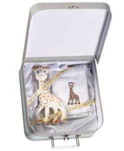 Sophie zsiráf és törlőkendő és egy szuper bőrönd hozzá!